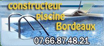 Constructeur piscine Bordeaux, piscine béton traditionnelle - CPB